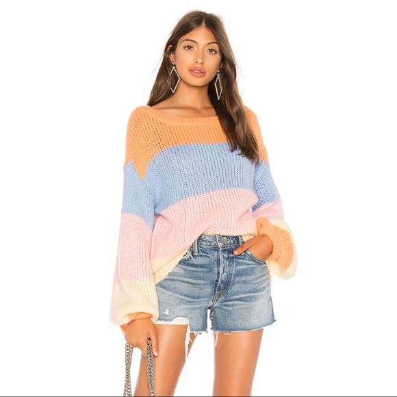 4090977a2b2 Lovers + Friends Sweaters - Revolve Lynn Pastel Sweater - Lovers + Friends